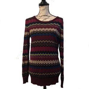 Missoni Lindex Chevron Striped Knit Sweater Top